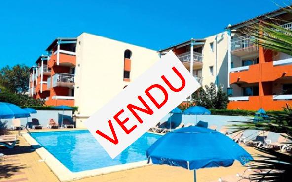 Deux pièces + parking gérés par Odalys en résidence de Tourisme au Cap d'Agde