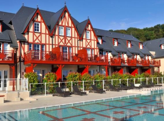 Duplex géré par Pierre & Vacances en résidence de Tourisme à Houlgate en Normandie