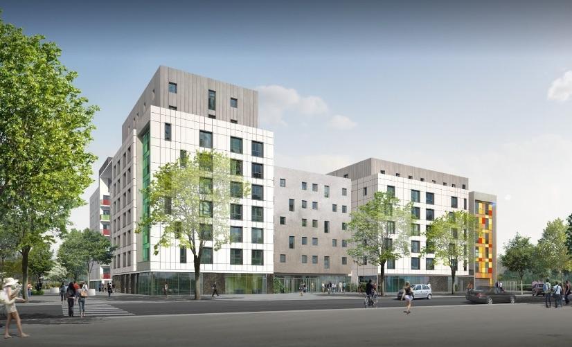Studio et parking en résidence étudiante gérée par Q7 Campus à Lyon
